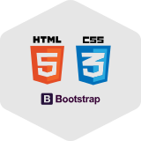 HTML5, CSS3, Bootstrap