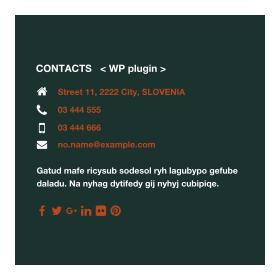 Contacts Plugin